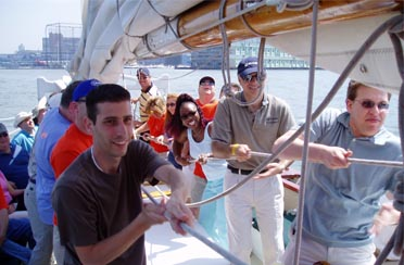 a Team Building event on Schooner Adirondack in the Hudson River