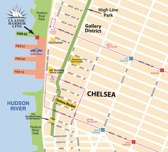 Map of Chelsea Piers