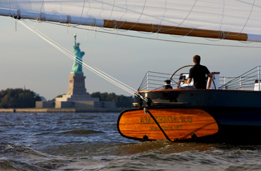 Sunset Sail In New York Harbor