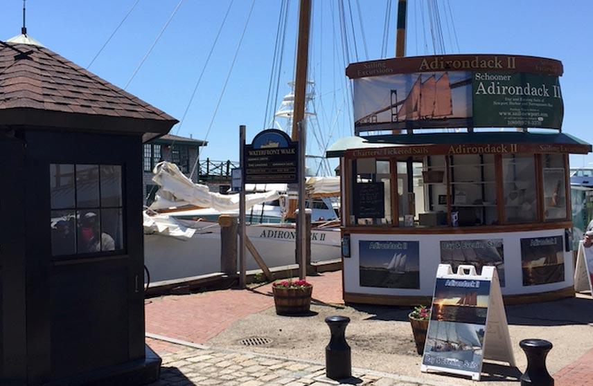 Classic Harbor Lines Dock in Newport RI for Schooner Adirondack II and Sloop Eleanor
