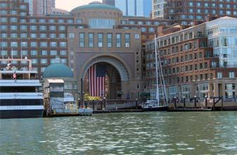 Classic Harbor Lines Dock in Boston Harbor for Schooner Adirondack III and Northern Lights