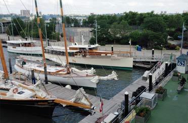 Schooner Adirondack, Schooner America 2.0, Yacht Manhattan and Yacht Kingston docked at Chelseqa Piers NYC
