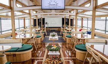 Conference space on a classic boat in NYC