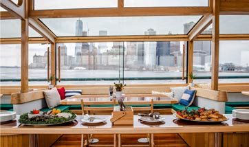 Event space for your company meeting on a classic boat in NY Harbor